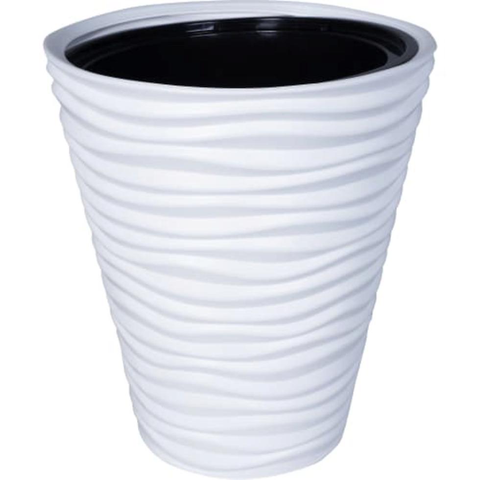 Кашпо «Дюна», 19.5 л, 38,5 см, цвет белый