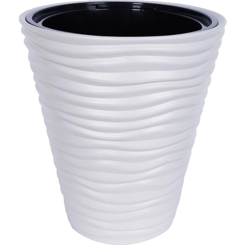 Кашпо «Дюна», 19.5 л, 38,5 см, цвет кремовый