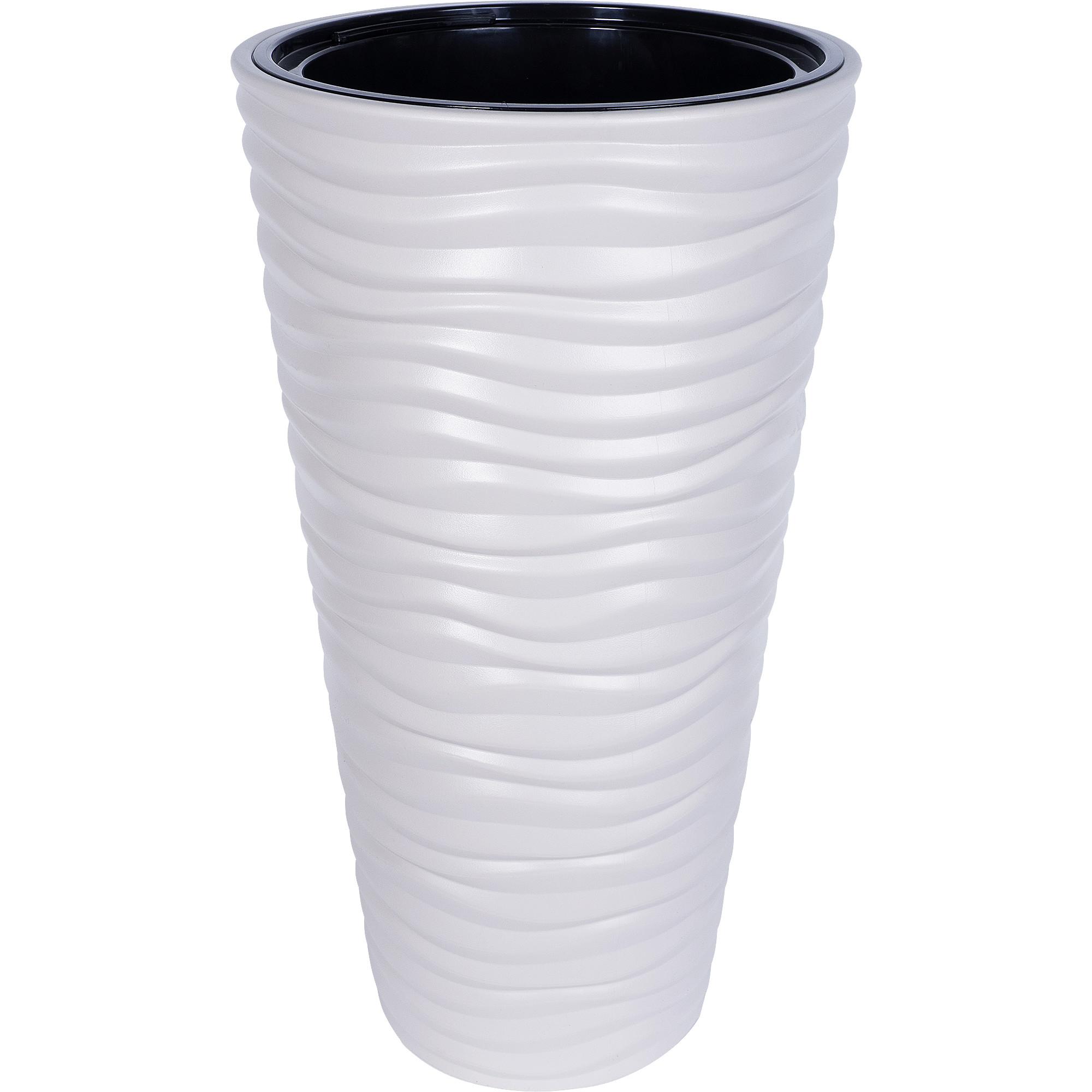 Кашпо «Дюна», 42 л, 63 см, цвет кремовый