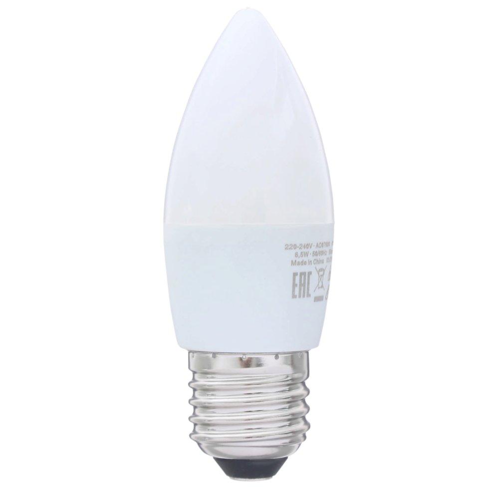 Лампа светодиодная Osram «Свеча», E27, 6.5 Вт, 550 Лм, свет холодный белый