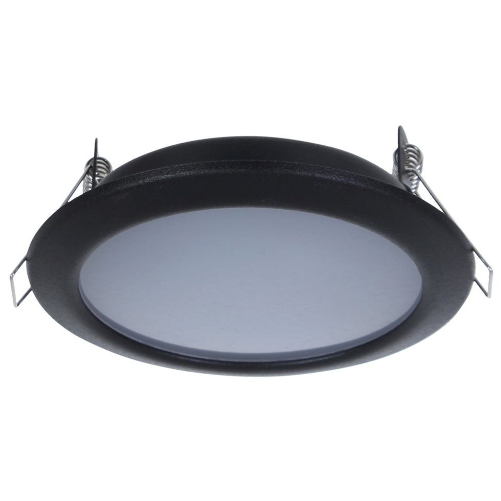 Светильник светодидный «Стандарт», 6 Вт, 550 Лм, 220 В, цвет чёрный, свет дневной белый