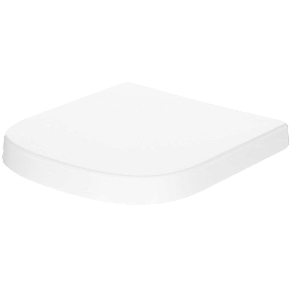 Сиденье для унитаза Euro Ceramic дюропласт, микролифт, цвет белый