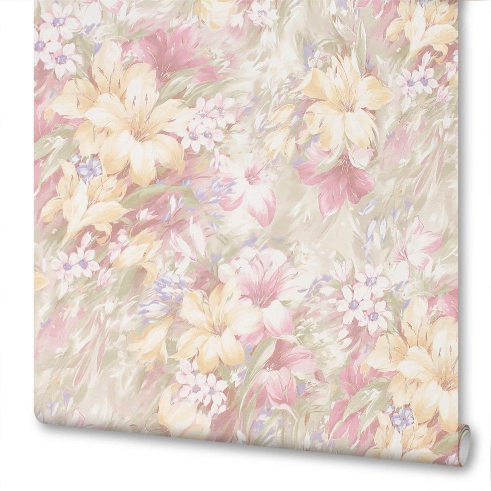Обои на флизелиновой основе Victoria Stenova «Summer» 998707, 1.06х10 м, цвет розовый