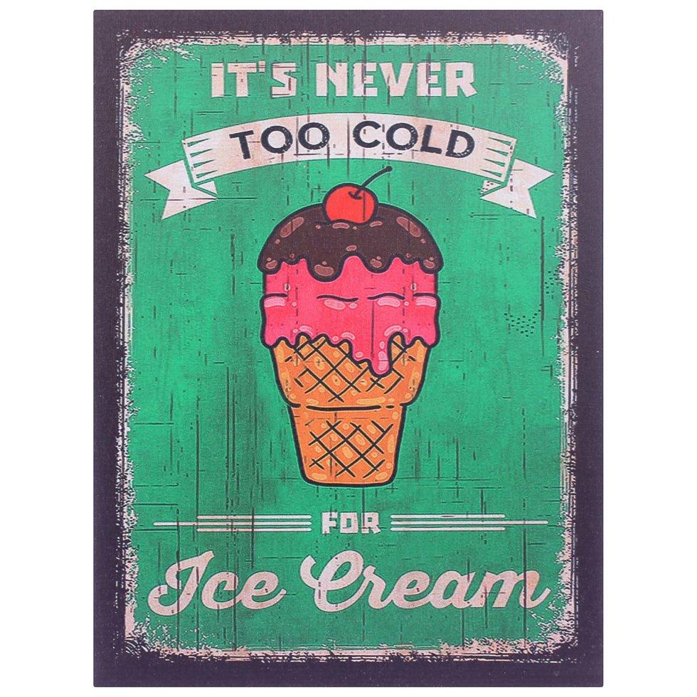 Картина на МДФ «Мороженое», 30х40 см