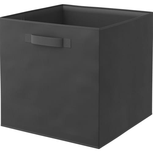 Короб Spaceo 31х31х31 см 29.7 л спанбонд цвет чёрный