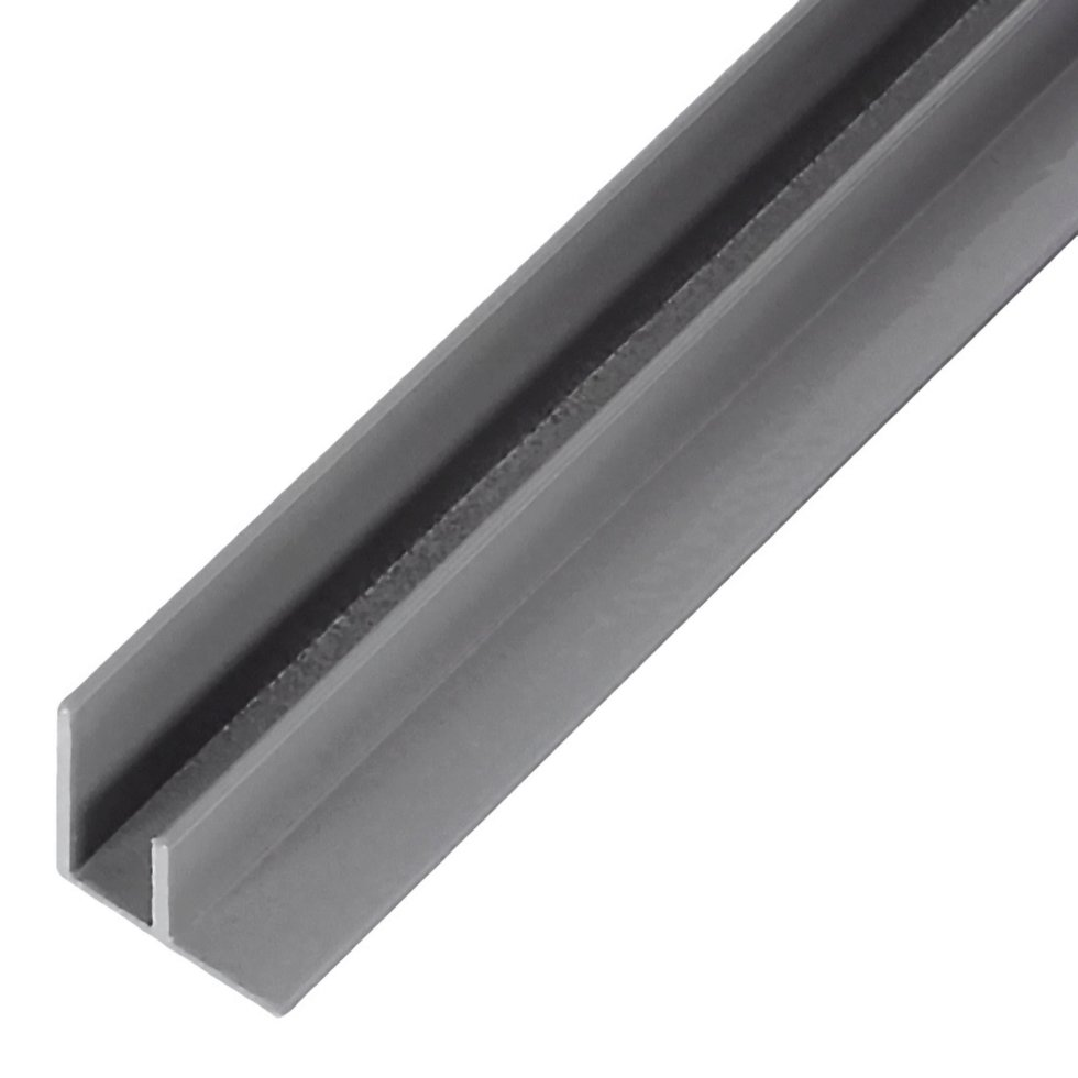 Профиль угловой F-образный для стеновой панели, 60х0.4 см, алюминий