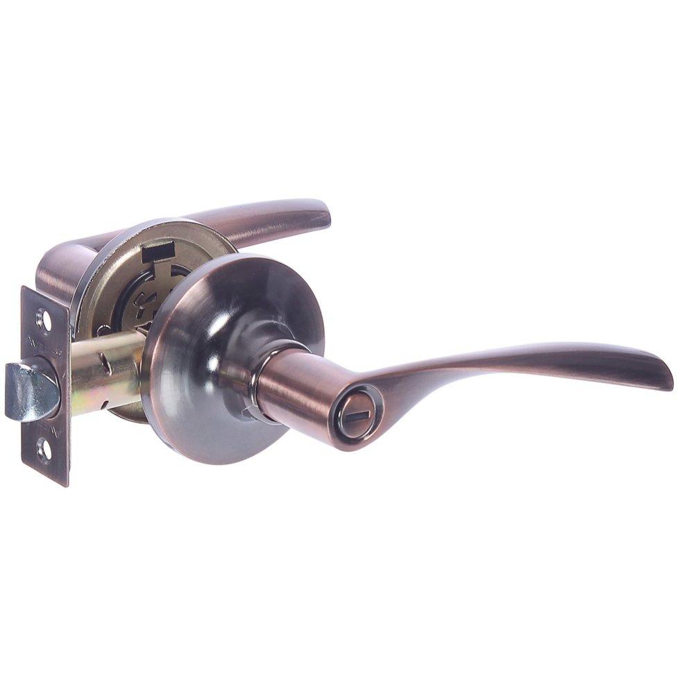 Ручка-защёлка Avers 8023-03-AC, с фиксатором, сталь, цвет старая медь