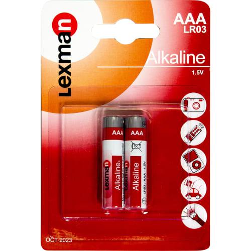 Батарейка алкалиновая Lexman AAA, 2 шт.