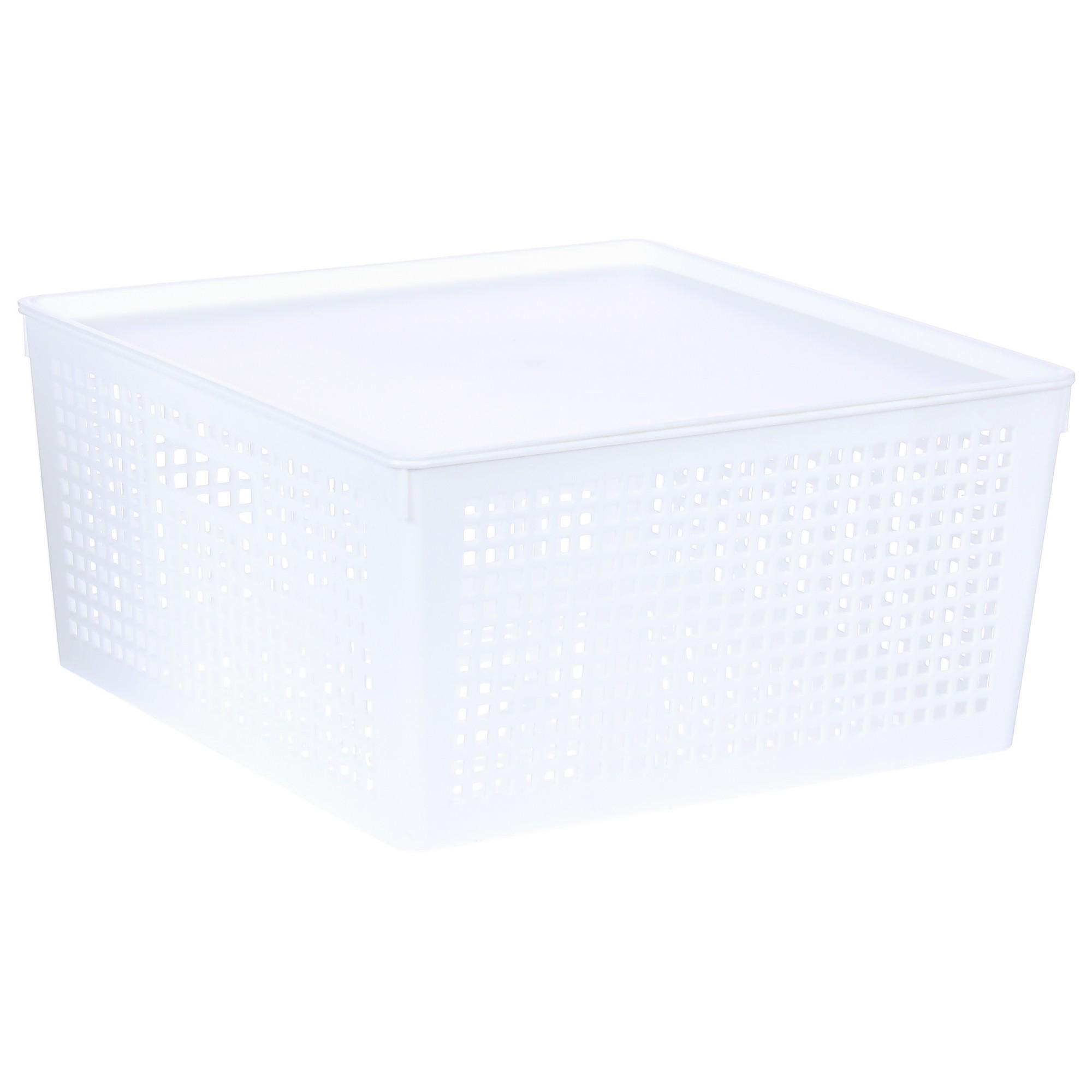 Лоток, 310х310х150 мм, с крышкой, цвет белый