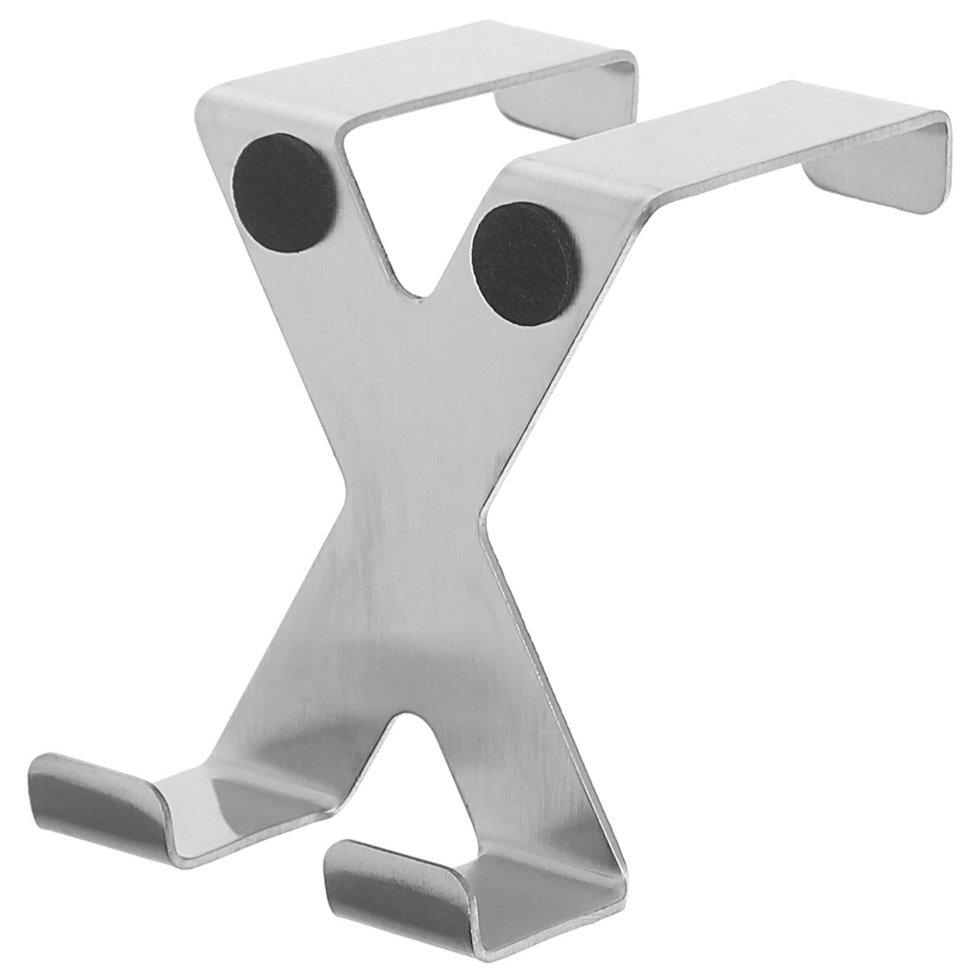 Крючок двойной надверный Tatkraft, нержавеющая сталь