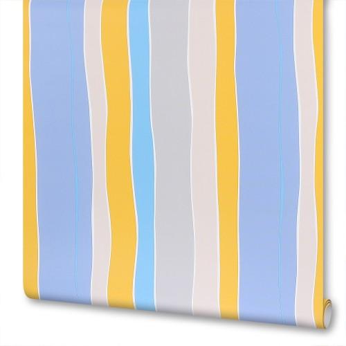 Обои на флизелиновой основе Disney «Полосы», 1.06x10 м, цвет голубой