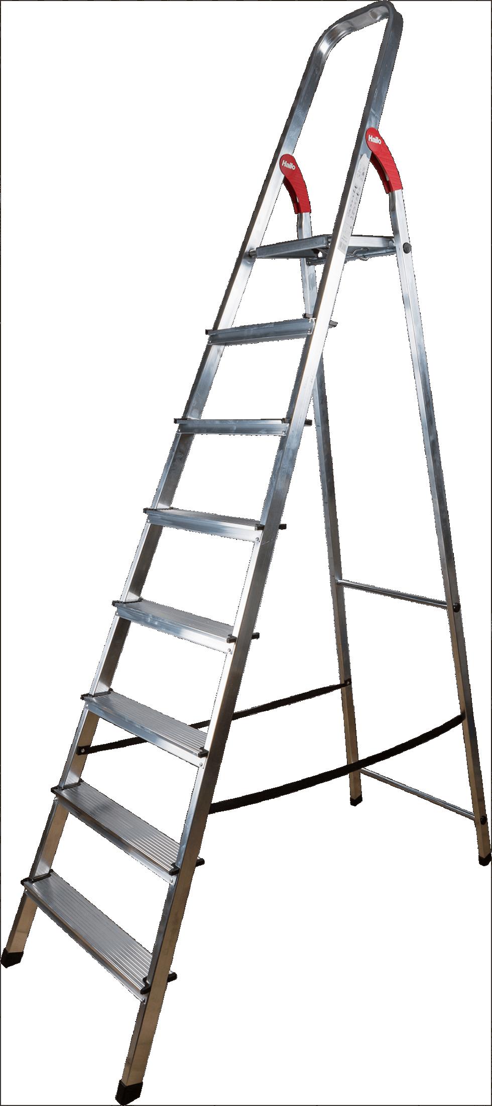 Стремянка Hailo, 8 ступеней, L9, алюминий