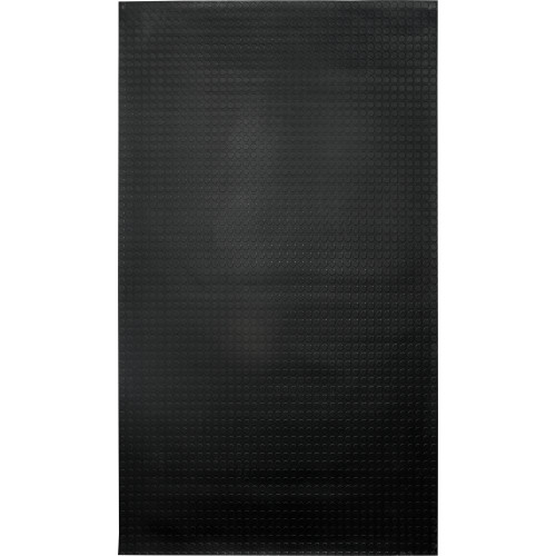 Ковровое покрытие «Монетка», 1.2х10 м, резина, цвет чёрный