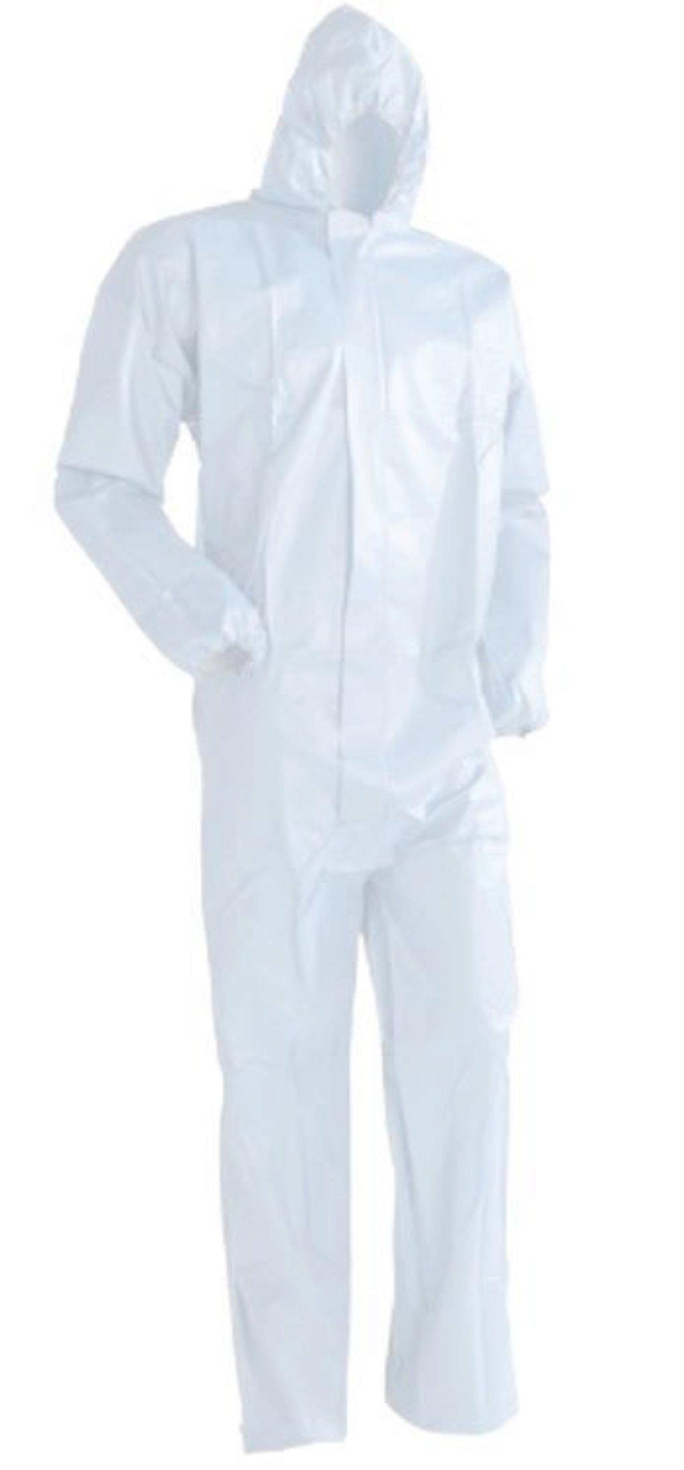 Комбинезон ламинированный одноразовый, размер 2XL, цвет белый