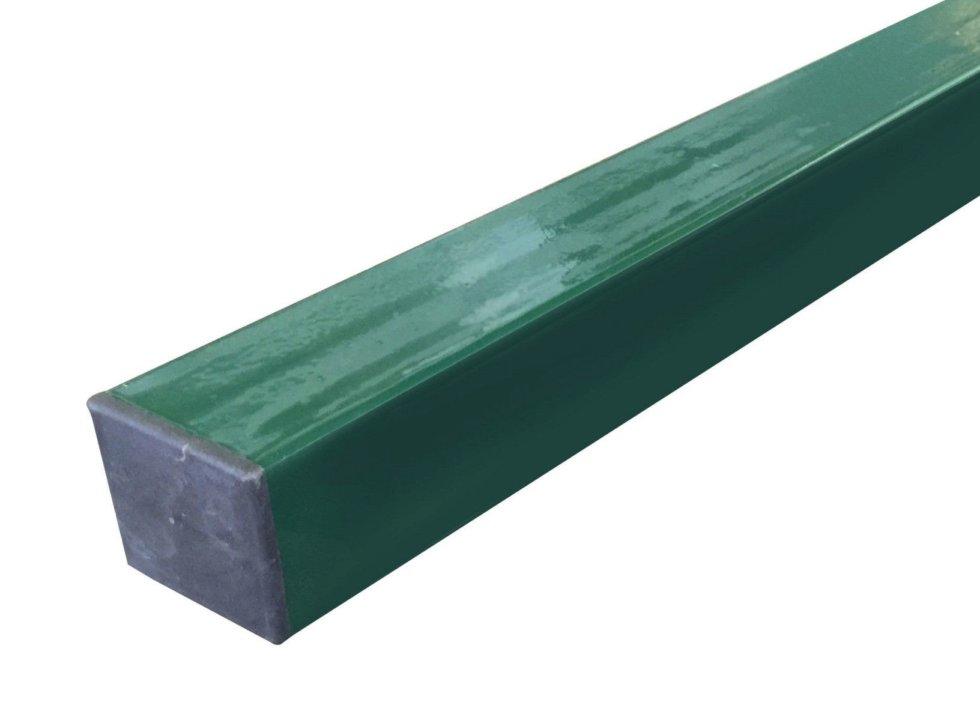 Столб 40х40х3000 мм, цвет зелёный