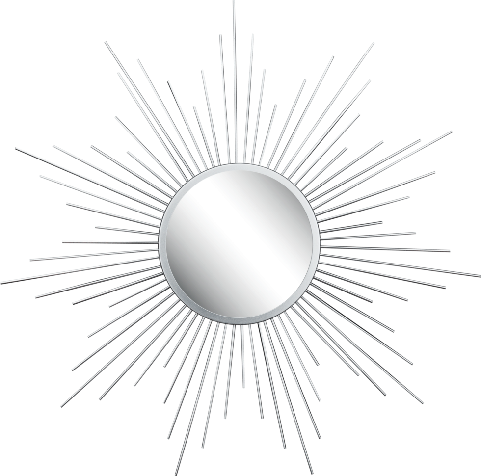 Зеркало в раме Серебряные лучи D60см