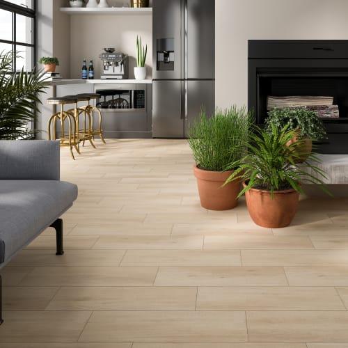 Керамогранит «Stockholm», 18.5x59.8 см, 0.99 м2, цвет бежевый