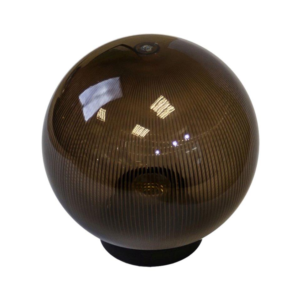 Шар уличный Palla, 1xE27x60 Вт, 200 мм, пластик, цвет коричневый