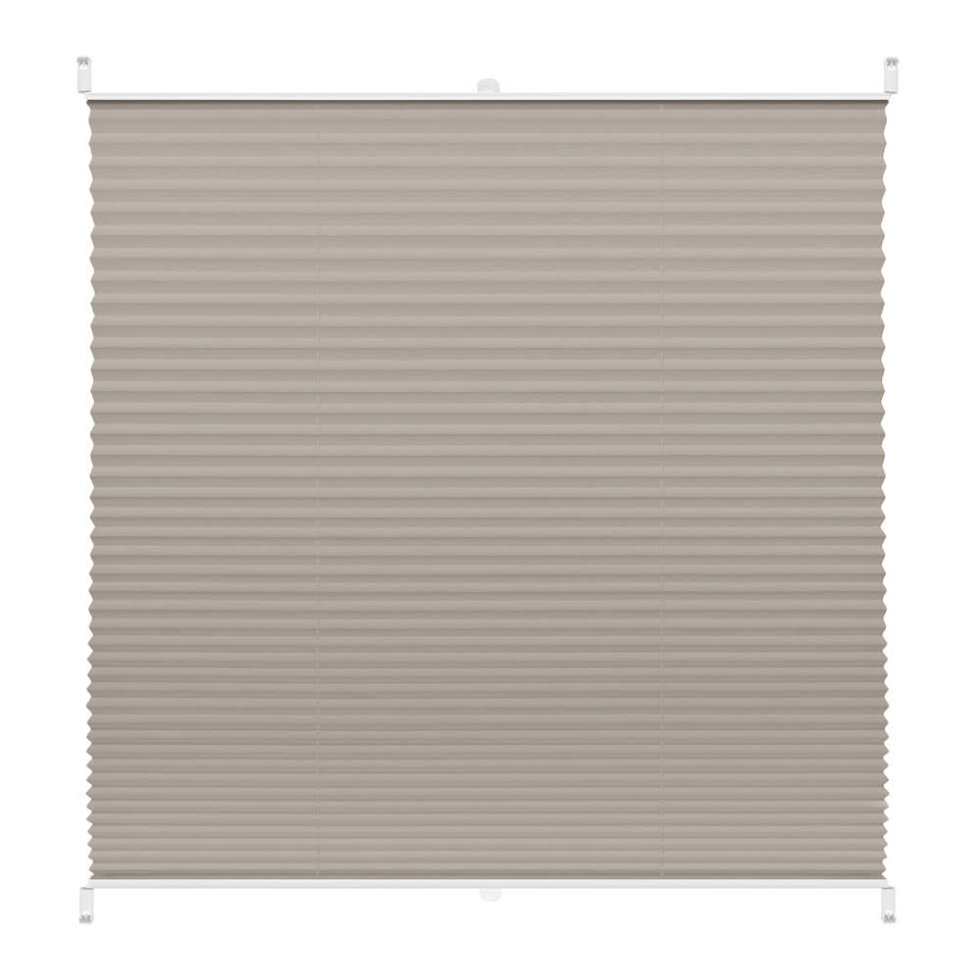 Штора плиссе «Плайн», 35х160 см, текстиль, цвет серый