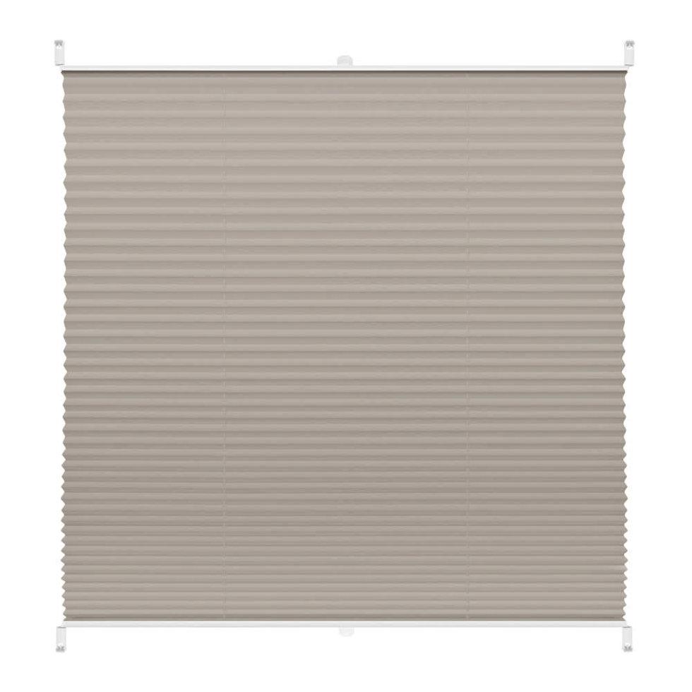 Штора плиссе «Плайн», 40х160 см, текстиль, цвет серый