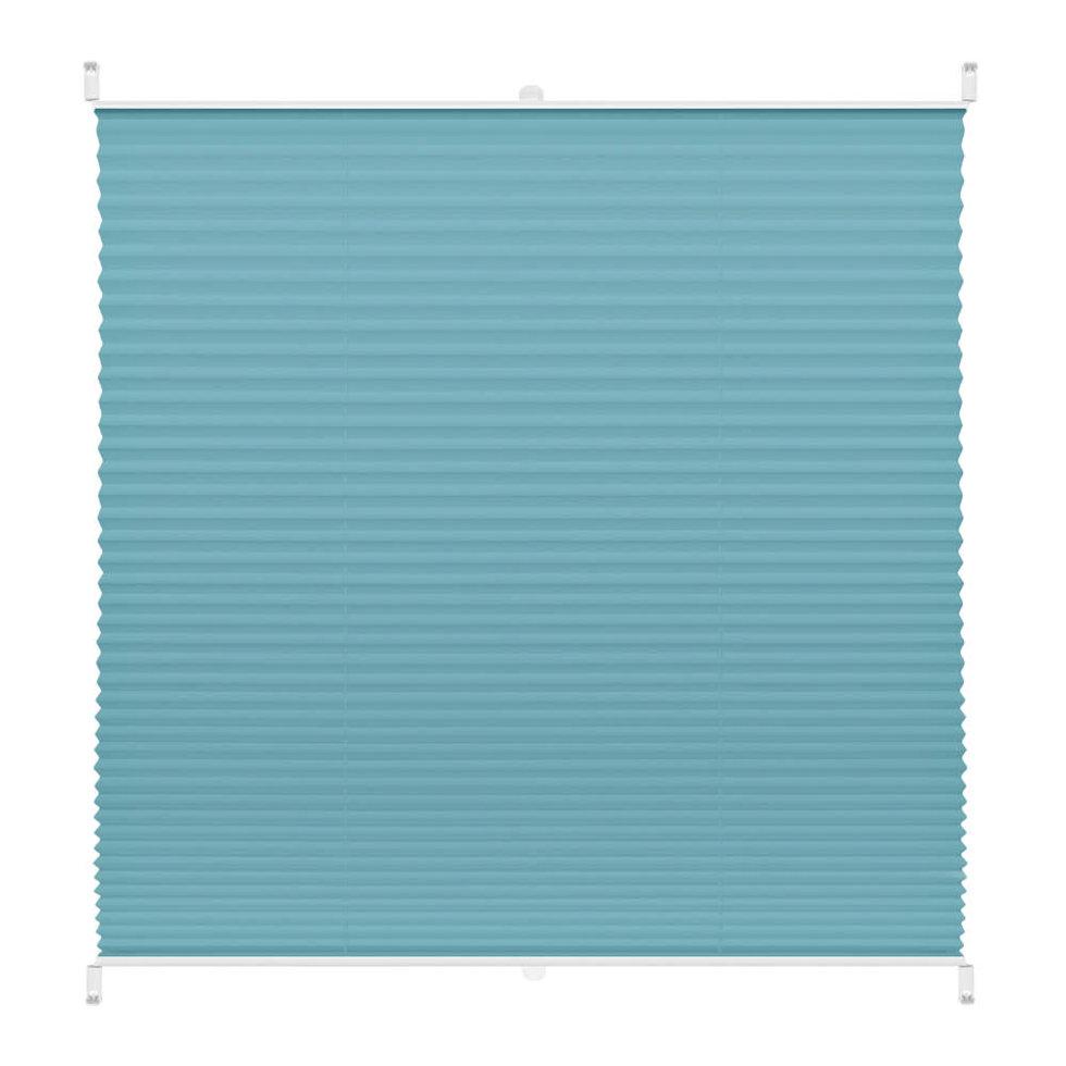 Штора плиссе «Плайн», 40х160 см, текстиль, цвет бирюзовый