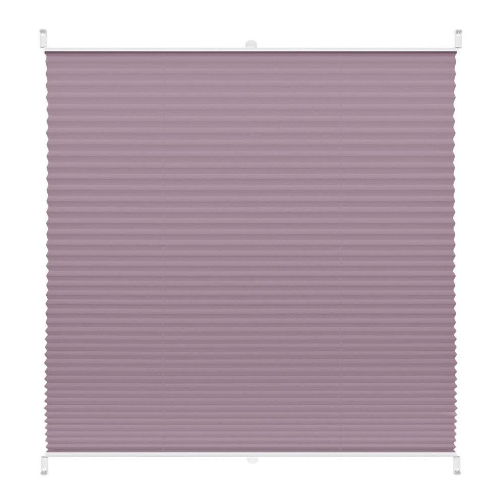 Штора плиссе «Плайн», 75х160 см, текстиль, цвет сиреневый