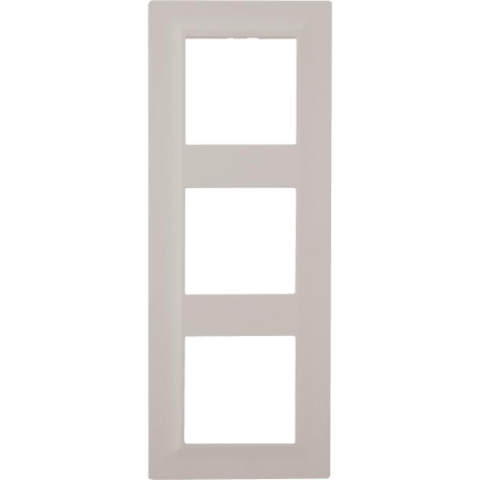 Рамка для розеток и выключателей Legrand «Structura», 3 поста, цвет слоновая кость
