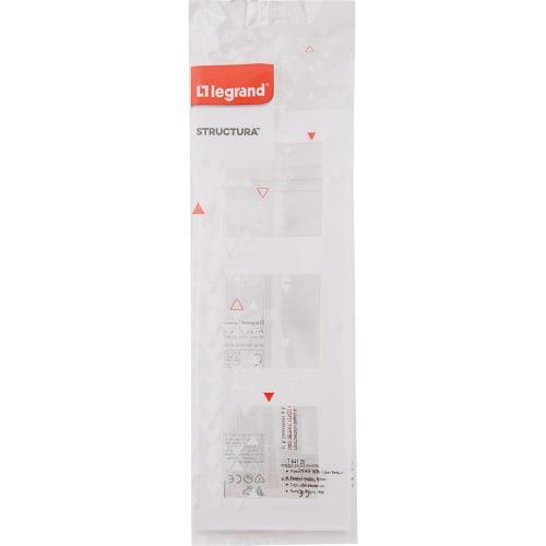 Рамка для розеток и выключателей Legrand «Structura», 3 поста, цвет белый