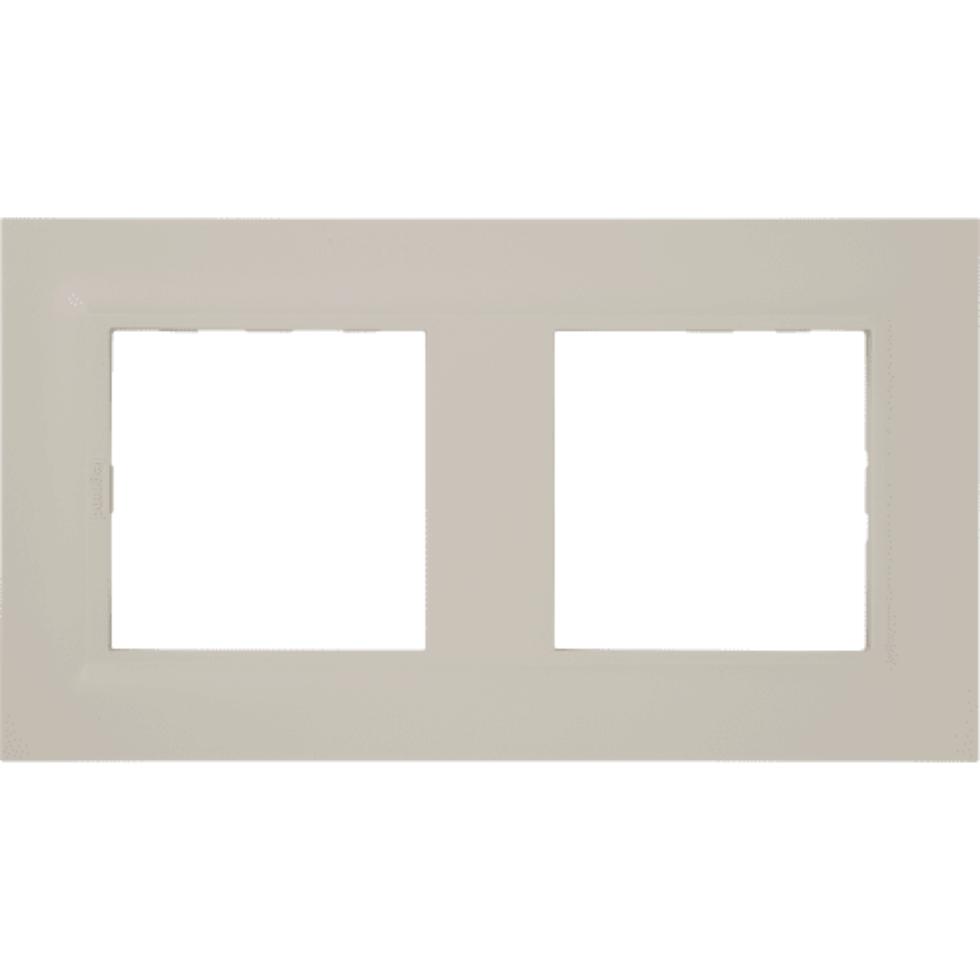 Рамка для розеток и выключателей Legrand «Structura», 2 поста, цвет слоновая кость