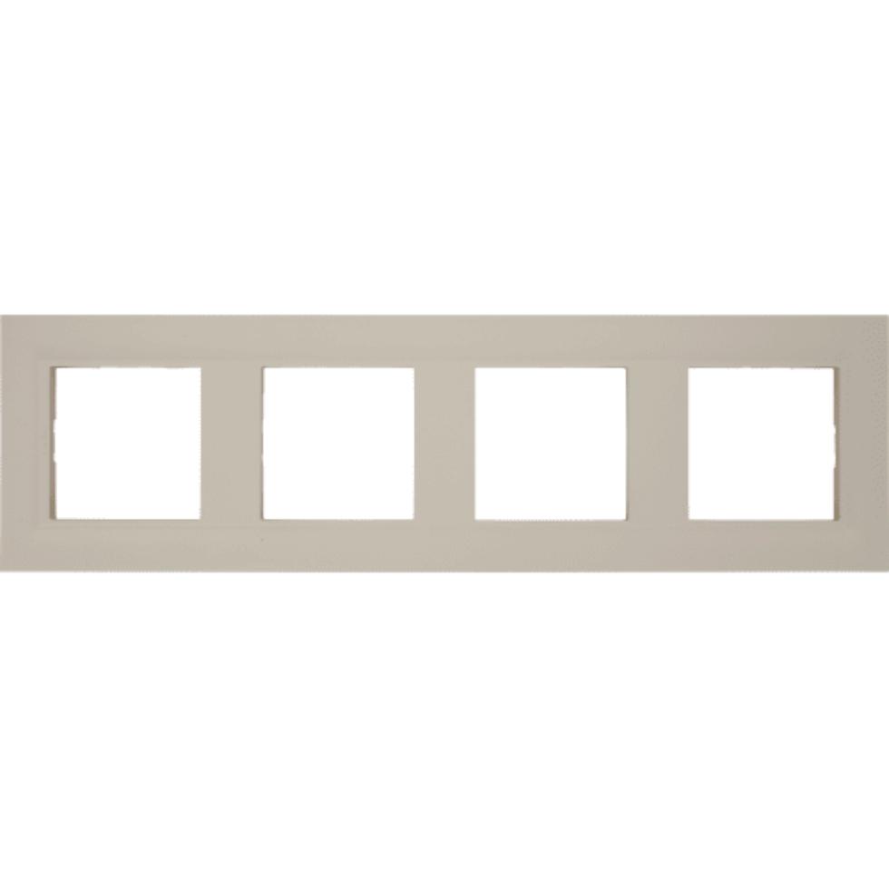 Рамка для розеток и выключателей Legrand «Structura», 4 поста, цвет слоновая кость
