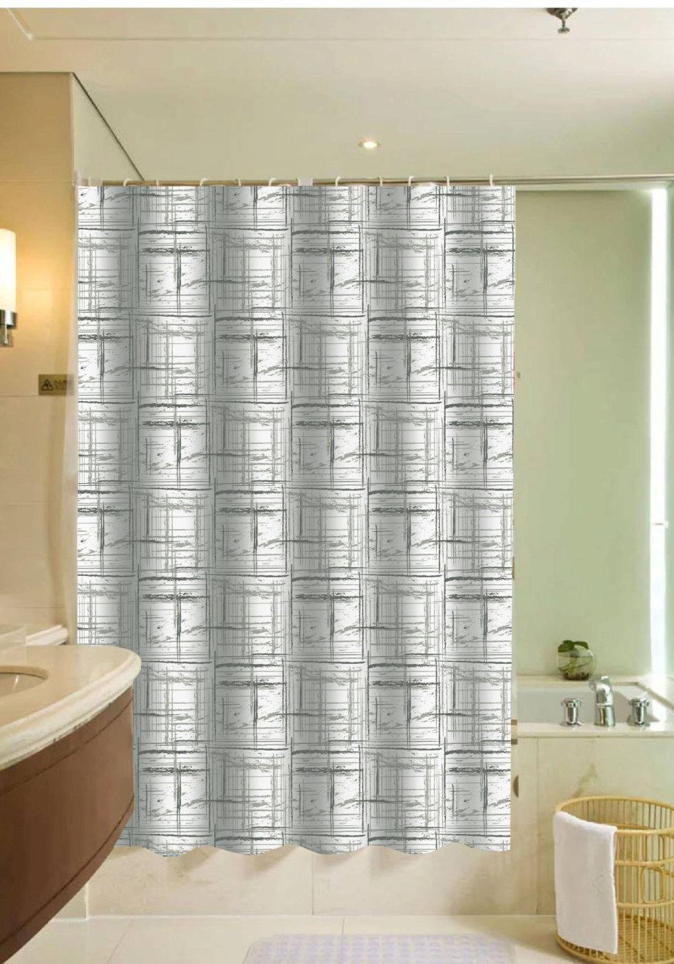Штора для ванной комнаты Detroit, 180x200 см, полиэстер