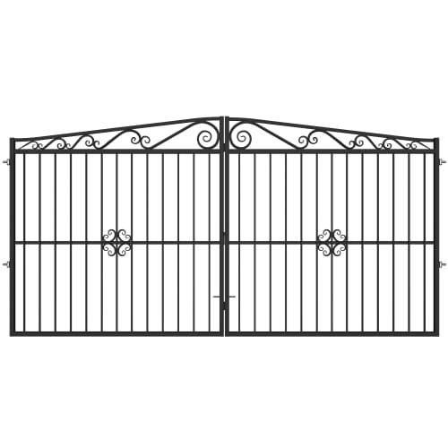Ворота Версаль 4.0х2.0 м с регулируемыми петлями