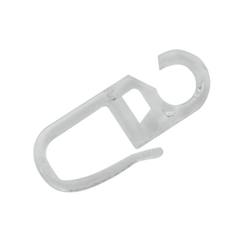 Крючок для кольца, 3 см, прозрачный, 20 шт.