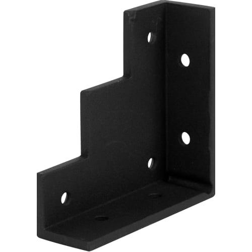 Уголок для двери Лофт 5х10 см, сталь, цвет чёрный