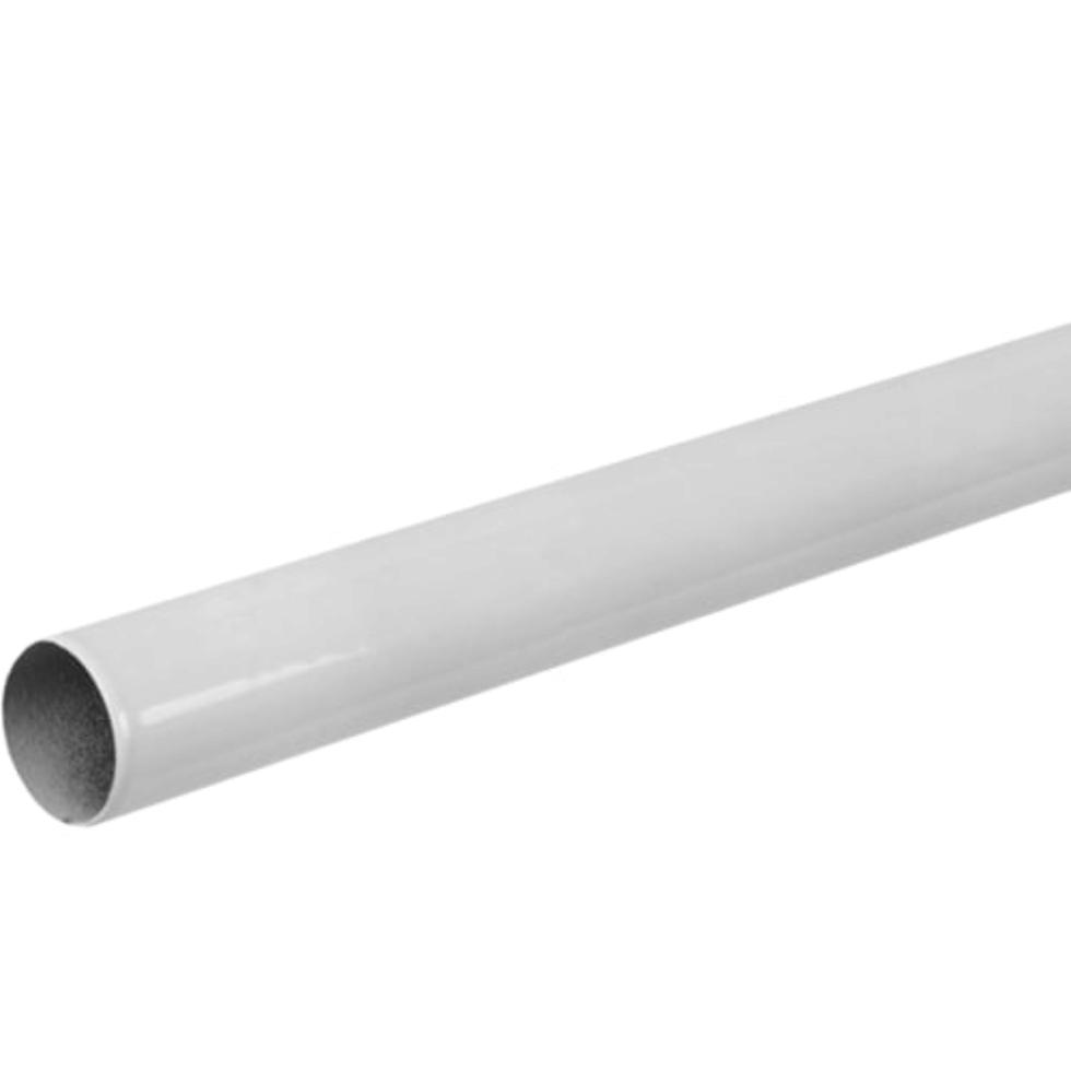 Штанга гладкая 200 см, цвет белый