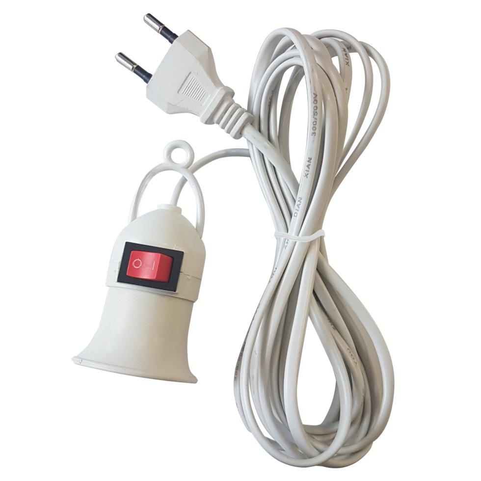 Светильник переносной E27, длина провода 3 м