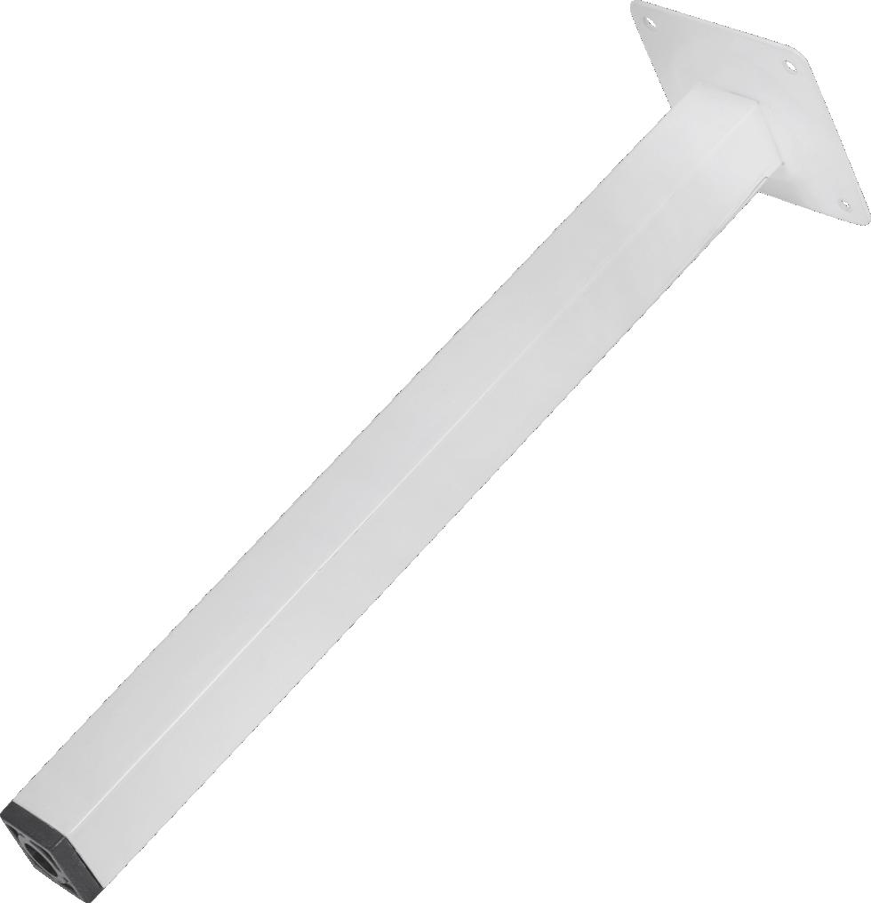 Ножка квадратная 300х25х25 мм, сталь, цвет белый
