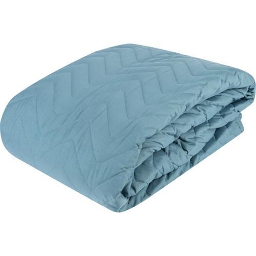 Покрывало, 200х240 см, полиэстер, цвет голубой