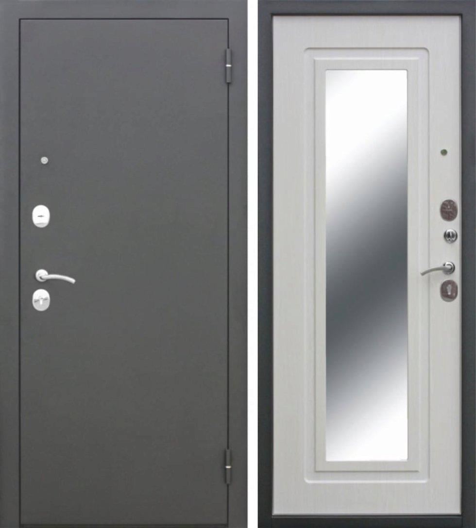Дверь входная металлическая Царское зеркало Maxi, 960 мм, левая, цвет белый ясень