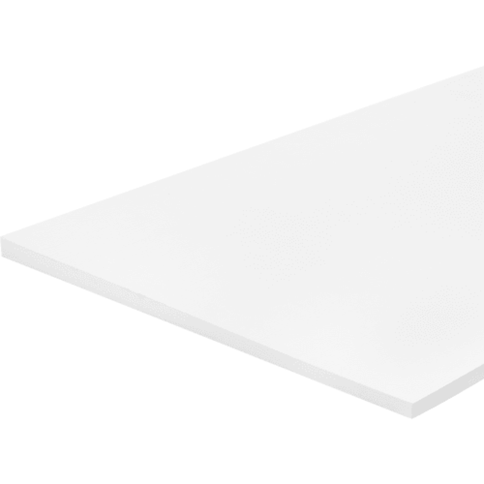 Деталь мебельная 1200x400x16 мм ЛДСП белый премиум