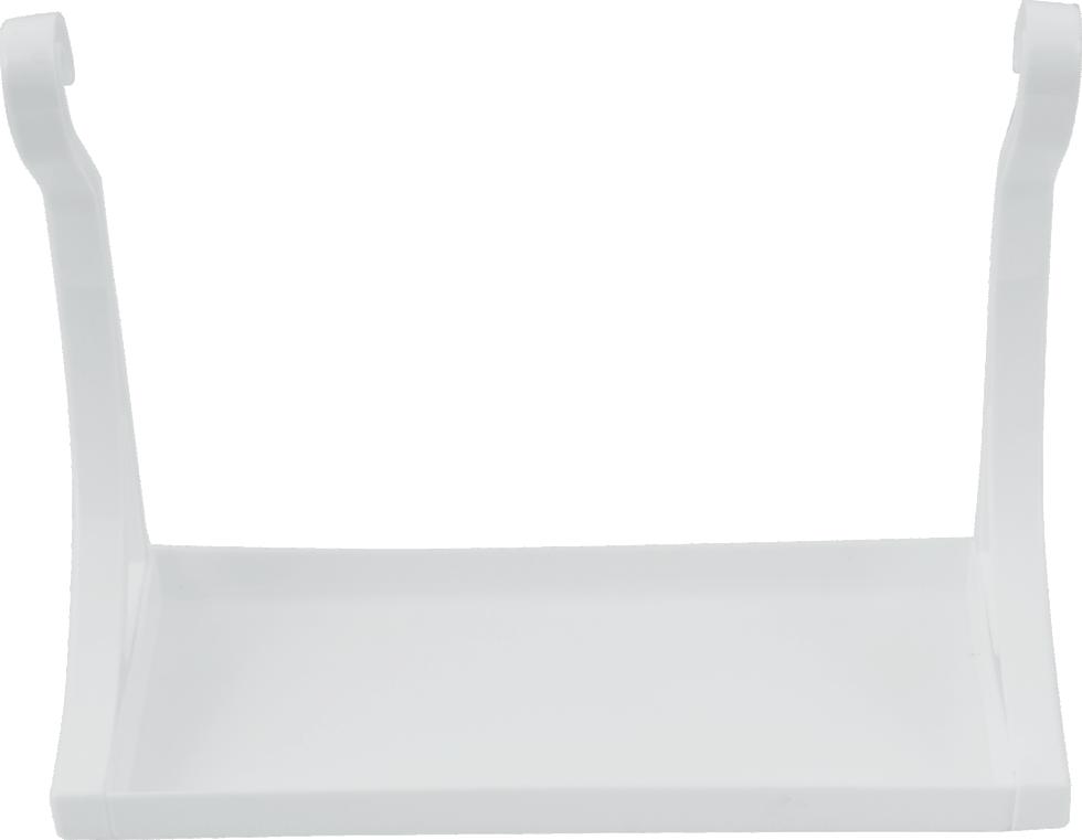 Полка настенная, 280х210х120 см, пластик, цвет белый