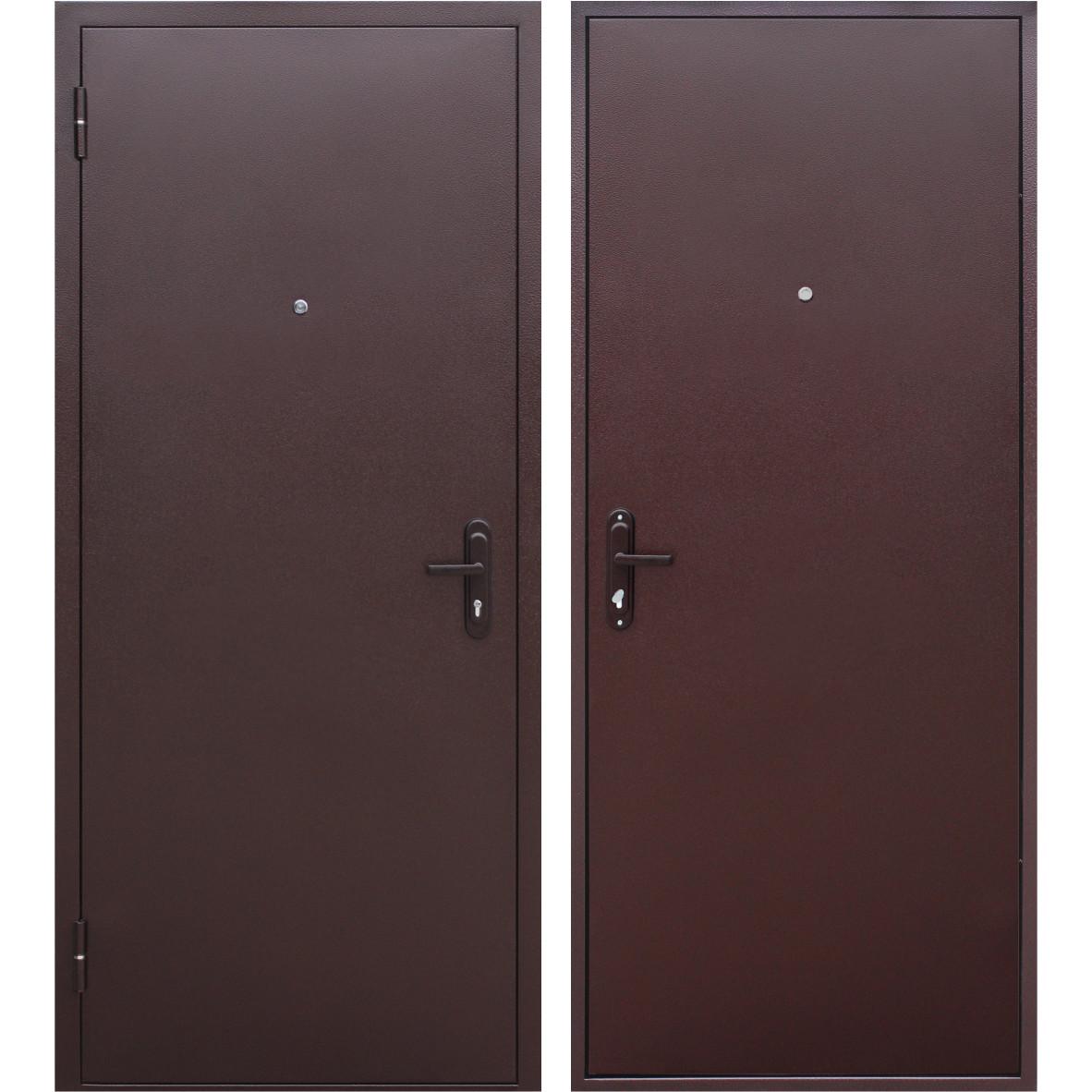 Дверь входная металлическая Стройгост 5, 860 мм, левая, цвет металл