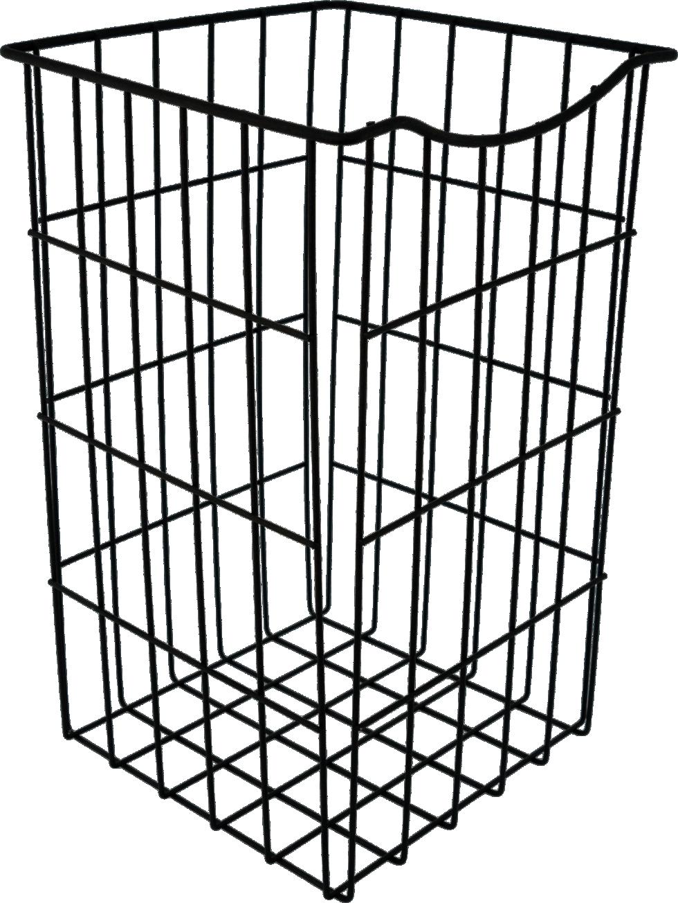 Корзина для белья, 25х25х40 см, цвет чёрный