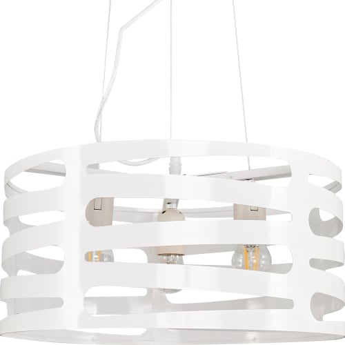 Светильник подвесной Laurel, 3 лампы, 12 м² цвет белый