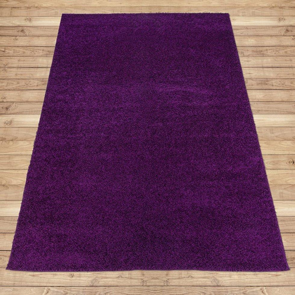 Ковёр «Лонж», 1х2 м, цвет фиолетовый