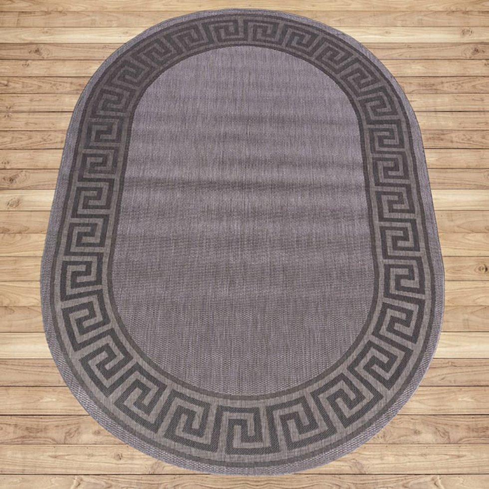 Ковёр «Дели» 107-11, 1.2х1.7 м, цвет серый