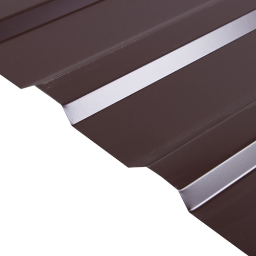 Профнастил С20 1,15x2 м с полиэстеровым покрытием 0,45 мм цвет коричневый