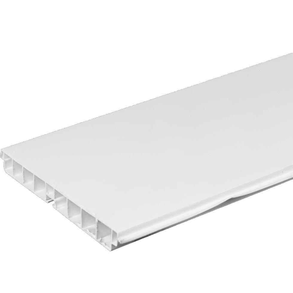 Цоколь для кухни 240х15 см, ПВХ, цвет белый