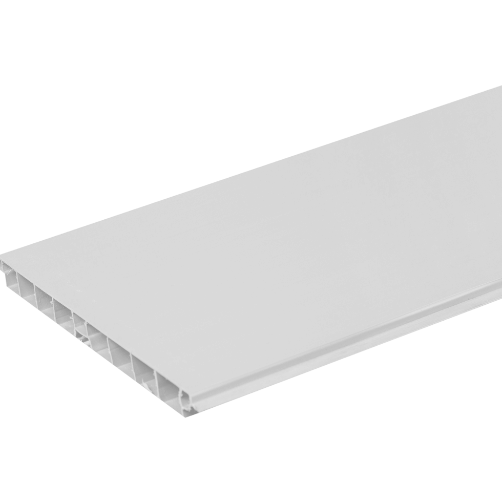 Цоколь для кухни 240х15 см, ПВХ, цвет серебро