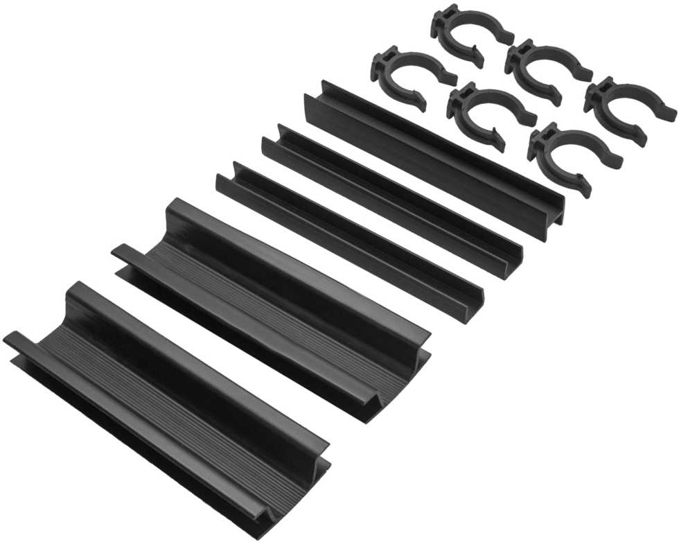 Комплект для установки кухонного цоколя, 190 мм, ПВХ, цвет чёрный